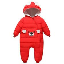 Baby Boys Girls outerwear Hooded Winter Warm Jacket Down Snowsuit Toddler Infant