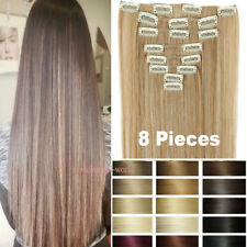 Lady Natural New Hair Clip in Hair Extensions 8 Pieces Full Head Long As Human