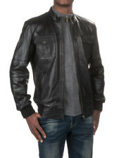 Mens SCULLY LAMB LEATHER BOMBER JACKET Black MED L XL 2XL 3X New NWT