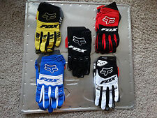 Fox Racing Dirtpaw MX motocross racing riding gloves blue black red yellow white