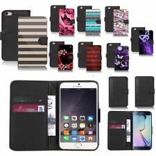 black pu leather wallet case cover for popular mobiles design ref a76