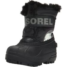 Sorel Childrens Snow Commander Black/Charcoal Synthetic Infant Snow Boots