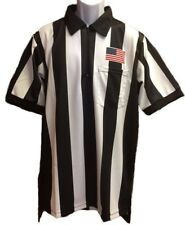 """NEW Sublimated Football Referee Shirt With 2 1/4"""" Stripes, Officials Uniform"""
