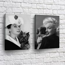 Audrey Hepburn Marilyn Monroe Movie Canvas Art Print Picture Framed Wall Decor