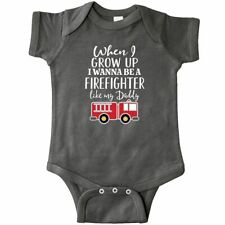 Inktastic Future Firefighter Like Daddy Infant Creeper Fireman Fire Fighter Job