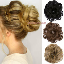 US New Pony Tail Hair Extensions Bun Hairpiece Scrunchie As Human Chignon Hair