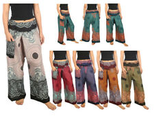 Womens and Men Thai Fisherman Pants Yoga Trousers One Size Rayon Fabric Loose
