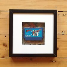Famicom Game Cart Wall Art - Comics Picture Framed Superman Mario