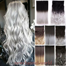 Real as Remy One Piece 5Clip in Hair Extensions Ombre Blonde Fake Hair Hairpiece