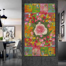 Print Art On Canvas Artwork Oilpainting Da Vinci Mona Lisa Rose Modern Art Decor