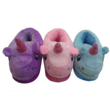 Warm Plush Unicorn slippers Adult Indoor Heel Slippers Home cotton slippers