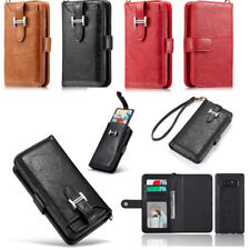 Genuine Leather Card Slot Wallet Case Cover For Samsung Galaxy Note 8 S8 S8 +