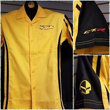 CORVETTE C7R  RACING GARAGE PIT CREW SHIRT YELLOW  BUDS CHEVROLET ST MARYS OH