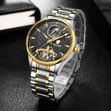 TEVISE Mens Moonphase Automatic Mechanical Luminous Stainless Steel Wrist Watch