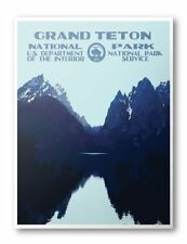 Grand Teton National Park Poster (Lake)