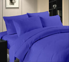 AU Bedding Collection ~100% Pima Cotton 1000 TC Egyptian Blue Solid