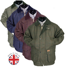 Mens New Warm Tweed Padded Country Outdoor Shooting Fishing Tweed Jacket Coat