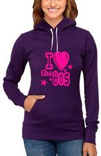 Ladies I Love The 80s Pullover Fleece Hoodie For Womens Fancy Dress Parties Lot