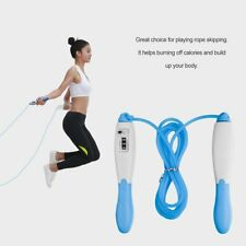 Skipping Rope Adjustable Electronic Counting Jump Rope Speed Fitness Exercise EW