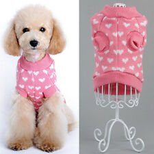 New Pet Dog Cat Sweater Puppy Knit Jacket Clothes Apparel For Small Medium Dog