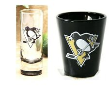 PITTSBURGH PENGUINS NHL CLEAR CORDIAL SHOOTER SHOT GLASS OR SHOT GLASS YOU PICK