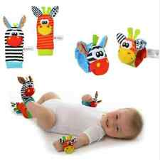 Infant Baby New Animal Wrist Foot Sock Rattles Soft Developmental Toys Finders