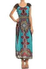 Ladies' Multi-coloured Tapestry Printed A-Line Maxi Dress