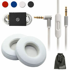 Audio Cable Cord+Ear Pads Cushion Replacement For Beats by Dr Dre Solo 2 Wired