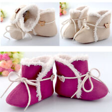 Baby Boys Girl Winter Warm Boots Toddler Infant Soft Crib Shoes 3 Size 0-18month
