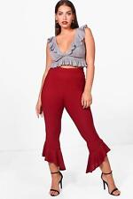 NEW Boohoo Womens Plus Melissa Frill Detail Trouser in