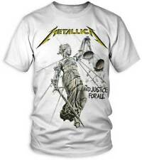 Metallica: And Justice For All White T-Shirt  Free Shipping