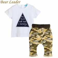 Bear Leader 2017 kids boys summer style infant clothes baby clothing sets boy Co