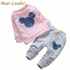 Bear Leader Baby Girl Clothes 2016 Autumn Baby Clothing Sets Cartoon Printing Sw