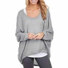 Fashion Batwing Sleeve knitted Sweaters Women Oversized Loose Pullover Casual To