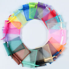 100pcs 9x12cm Luxury Jewellery Pouches Packing Organza Gift Bags Wedding Party F
