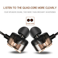 Earbuds Headphones Dual Dynamic Drivers Earphones Strong Bass Headset For IOS