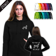 Ladies Hoodie Hooded Sweater Rhinestone strassdruck Dog Australian Shepherd M1
