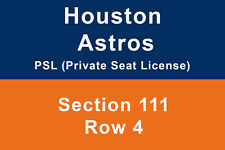 Houston Astros Seat PSL (Private Seat License) 4 seats