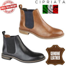 Cipriata Alexandra Womens Twin Gusset Chelsea Shoes Ladies Leather Ankle Boots