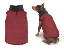 ThermaPet Quilted Dog Vest Red & Black Stylish Sporty Lined All Weather Sweater