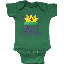 Inktastic 2017 Mardi Gras King Queen Crown Infant Creeper Party Celebration Gold