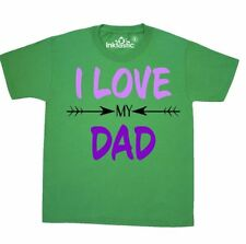 Inktastic I Love My Dad Fathers Day Youth T-Shirt For Kids Father New Gift Best