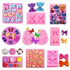 Silicone Fondant Mold Cake Decorating Sugarcraft Chocolate Mould Butterfly Bow