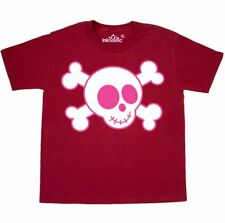 Inktastic Pink Skull Youth T-Shirt Pirate And Crossbones Funny Kids Girls Tee