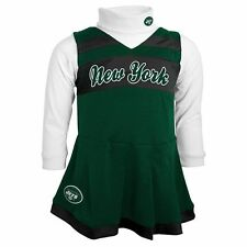 New York NY Jets NFL Infant Girls Jumper Cheerleader Dress18M 2T 3T 4Y $40 NWT