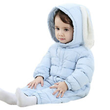 Toddler Infant Baby Girls Boys Outerwear Hooded Down Snowsuit Winter Warm Jacket