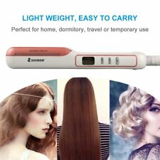 2 in 1 Dual Purpose LCD Hair Straightener & Curler with Power Indicator Light BS