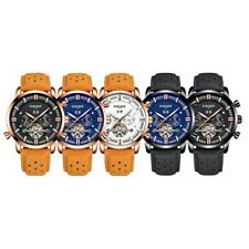 Analog Men Casual Leather Band Date Automatic Mechanical Sport Wrist Watch