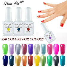 Soak Off UV Gel Nail Polish Top Base Coat Manicure UV LED Primer Gift Beau Gel