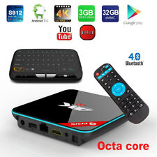 Q+ Plus 32GB Octa-Core 1080p 4K Bluetooth Android TV Media Box+Touchpad Keyboard